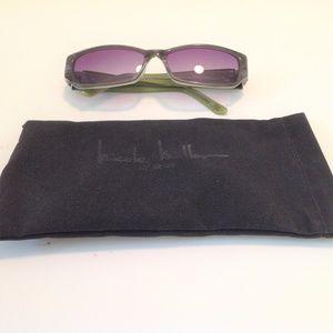 Nicole Miller Sunglasses Granite Lime NIB